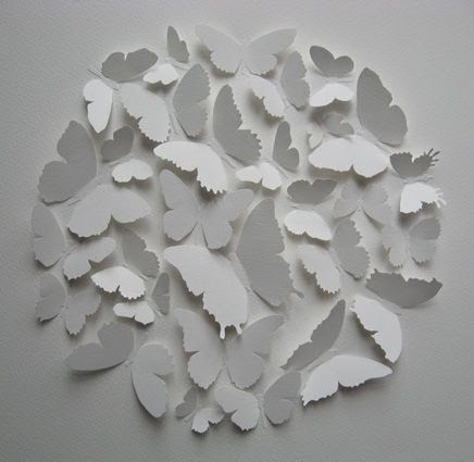 Papier découpé, papillons