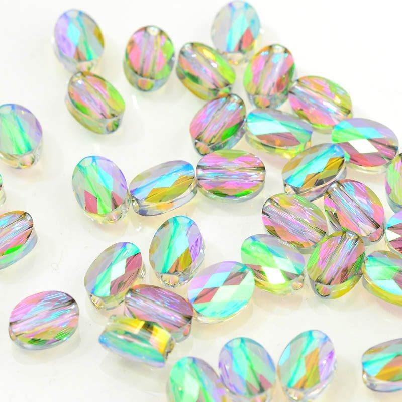 27750510046007 Swarovski Bead - 8 x 6 mm Mini-Oval (5051) - Crystal Paradise Shine (1)