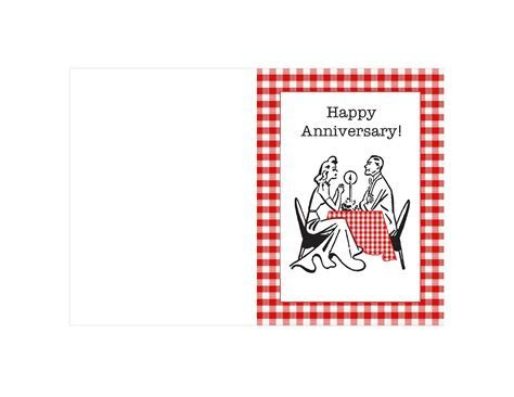 Most Romantic Printable Anniversary Card Templates For