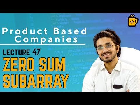 Java Free Course - Zero Sum Subarray