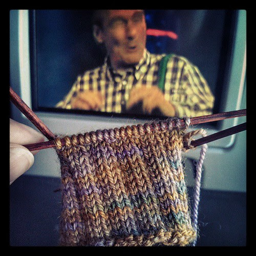 Airplane knitting and Who's Line Is It Anyway.... great combo