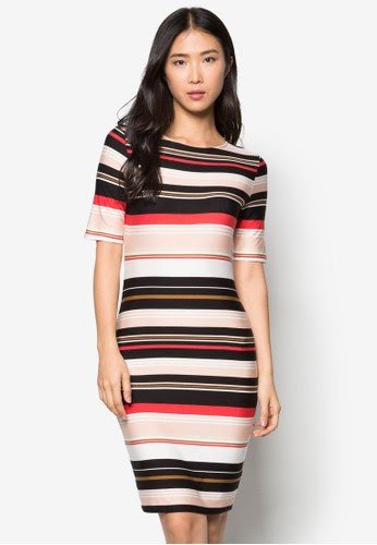 Petite Stripe Bodycon Dress