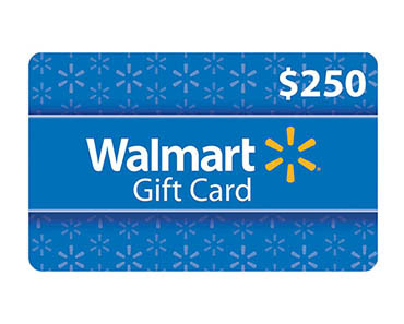 Enter To Win A $250 Walmart Gift Card