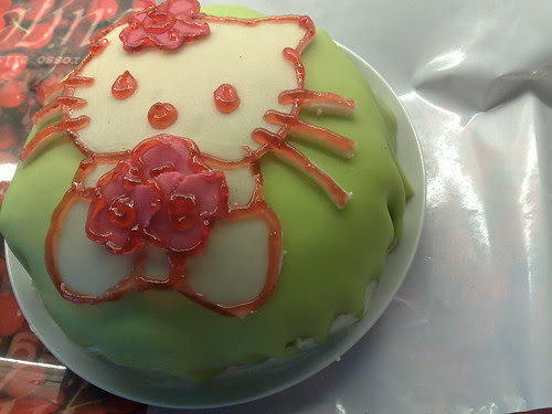 Hello Kitty cake (home made)
