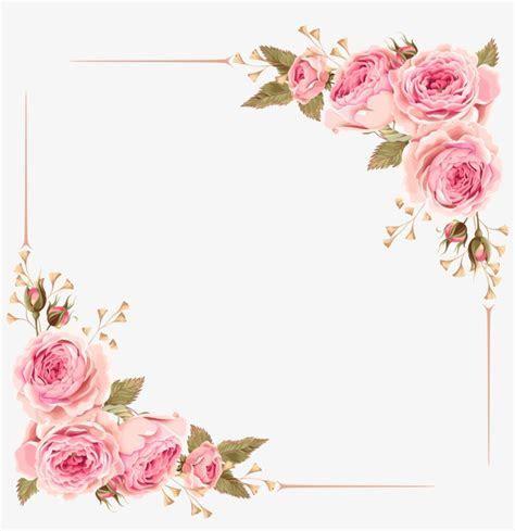 Rose Border   Wedding Invitation Flower Borders