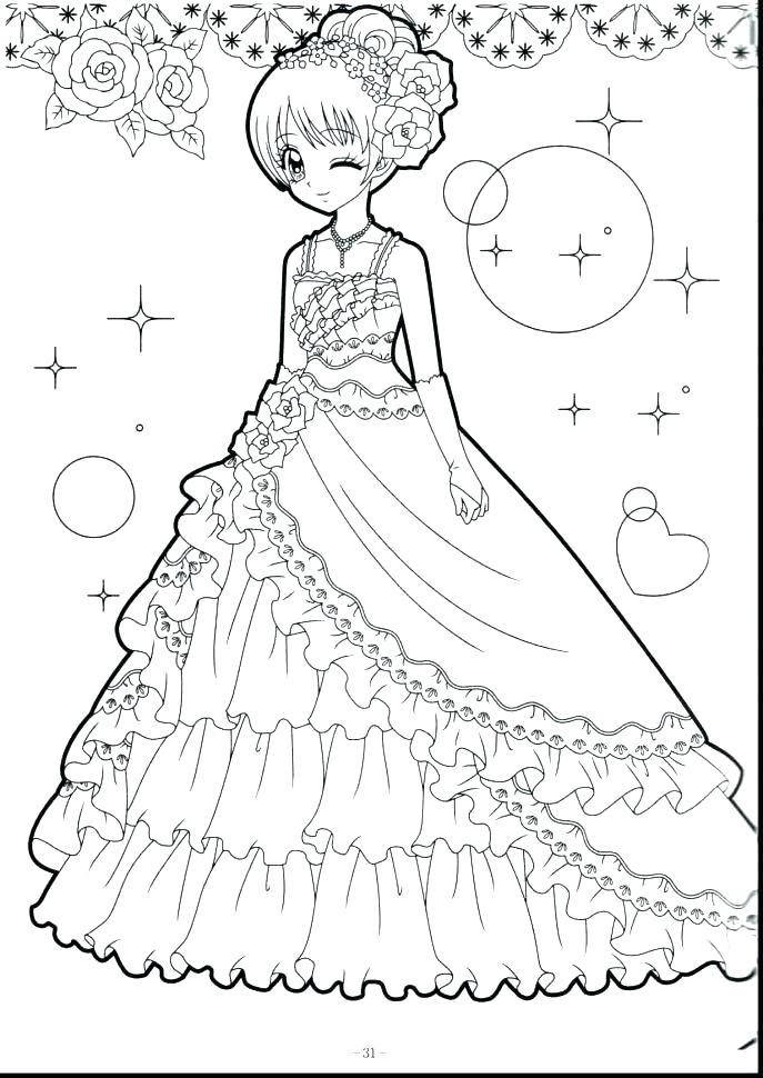 Printable Coloring Pages Anime Girl