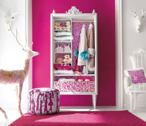 Charming Pink Girls bedroom Design Idea