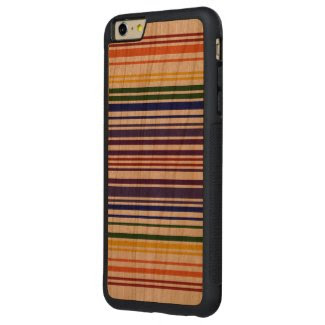 Double Rainbow Barcode Case Carved® Cherry iPhone 6 Plus Bumper Case
