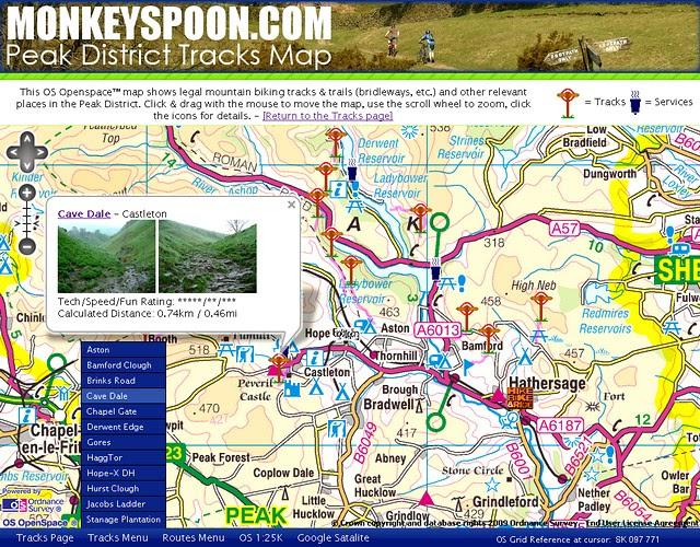 Peak District Map (MonkeySpoon.com)