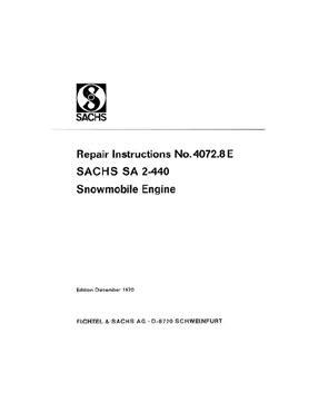 Sachs SA 2-440 2 cycle engine repair manual