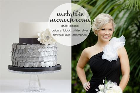 Metallic monochrome inspiration featuring Cakes by