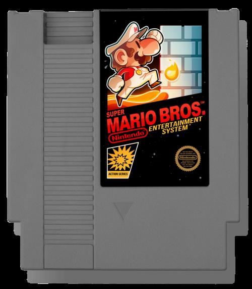 Super Mario Bros. (1985) Nintendo Entertainment System Cartridge Tribute