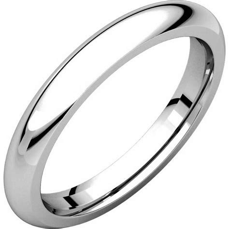 VH123793PP Platinum 3mm Heavy Comfort Fit Plain Wedding Band