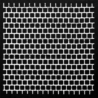Sequin Grid Waste Stencil by Jacqueline Sullivan