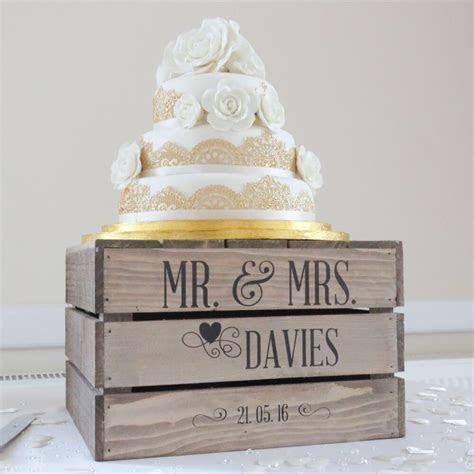 Personalised Rustic Wedding Cake Stand, Vintage Wedding