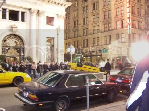 Spiderman 3 filming, 4th and Main, taxis