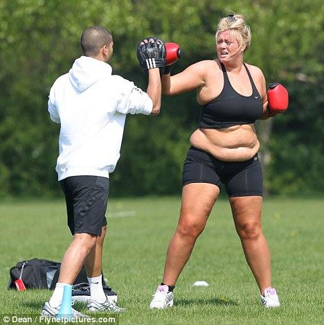 Fitness está fora do menu: Gemma ser posto em seus passos no início de sua batalha weightloss