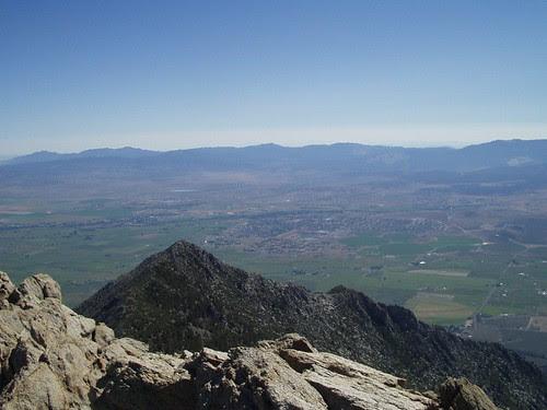 Looking down to Minden from Job's Peak