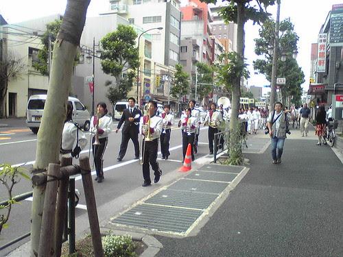 Brass band from Waseda High School again