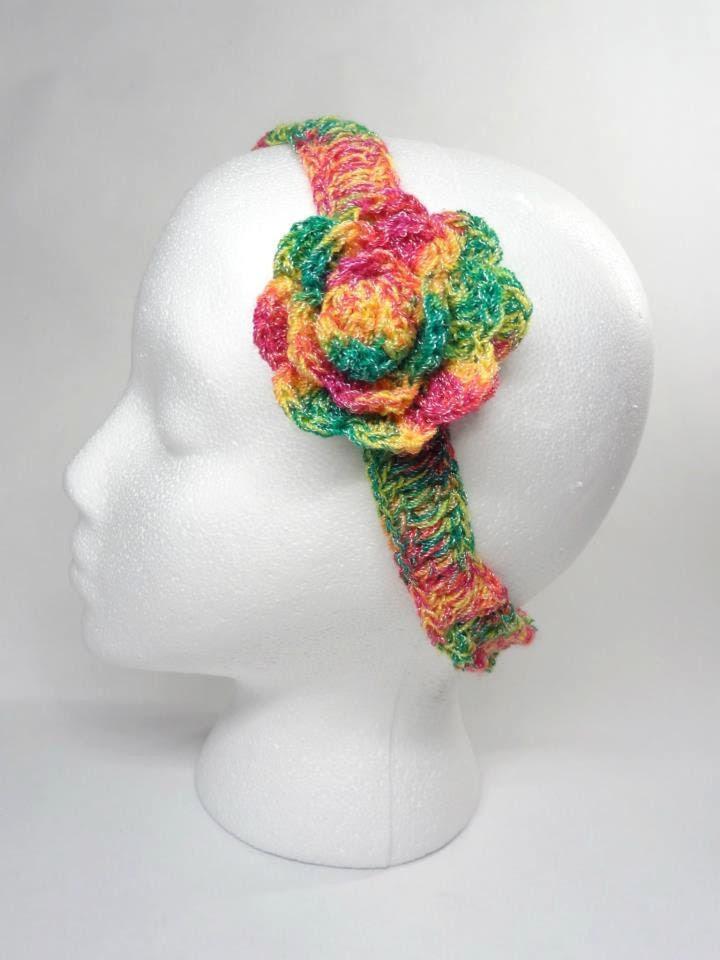 Crochet  Headband Spring Colors