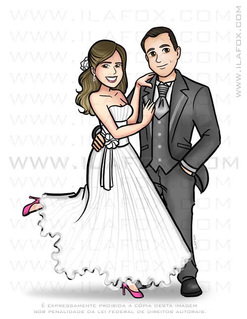 caricatura casal, caricatura noivinhos, caricatura sem exagero, caricatura bonita, by ila fox