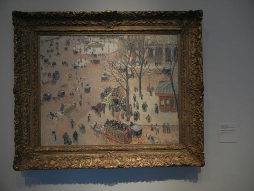 DSCN7954 _ La Place du Théâtre Français, 1898, Camille Pissarro (1830-1903), LACMA