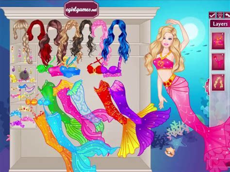 Games2girls Barbie Mermaid Dressup   Games For Girls