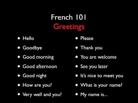 Salutation Française - Fonetik