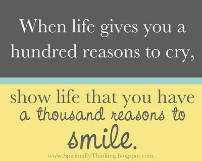 When Life Gives You A Hundred Reasons To Cry Show Life