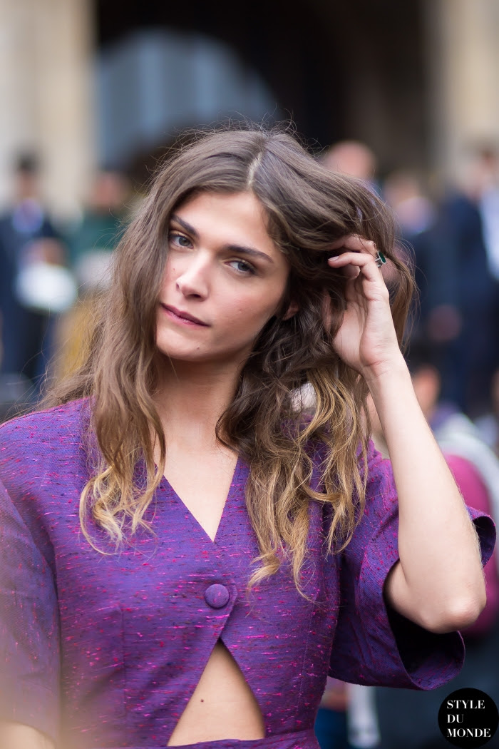 Elisa Sednaoui Street Style Street Fashion Streetsnaps by STYLEDUMONDE Street Style Fashion Blog