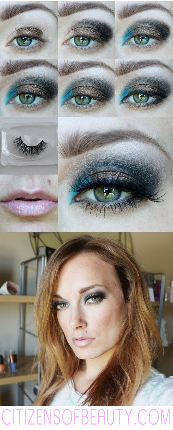 Glamorous Smoky and Neon Blue Eyeshadow Design #urbandecay #jouercosmetics #esqido #eyedesign #eyeshadowdesign #eyes #boldeyes via @Claudia Park Magers Of Beauty
