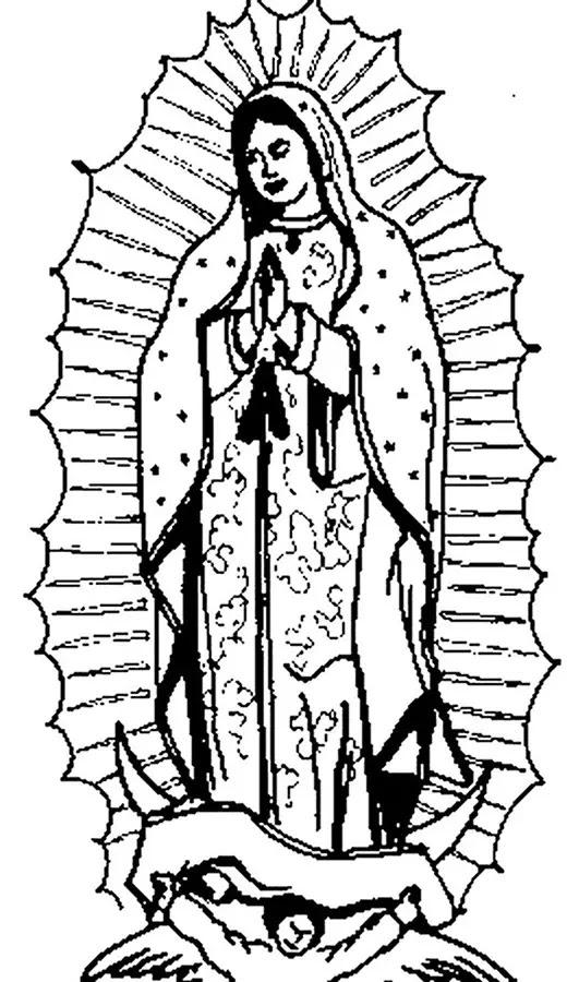 Dibujos De La Virgen De Guadalupe Faciles Para Dibujar Imagui