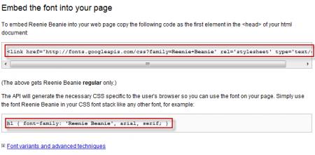 Google Fonts API Get the code 450x221 Google Fonts API: Sử dụng phông chữ trực tiếp từ Google