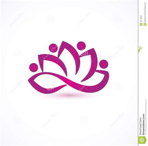 purple lotus flower logo stock vector image  backdrop