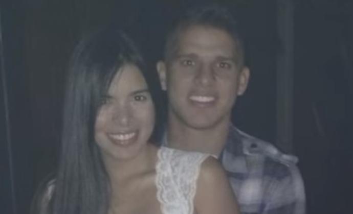 Gueraldin e Cuéllar: jogador colombiano é casado há pouco mais de um ano (Foto: Reprodução / El Heraldo)