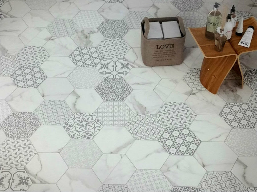 21 Fresh Patterned Bathroom Floor Tiles Uk