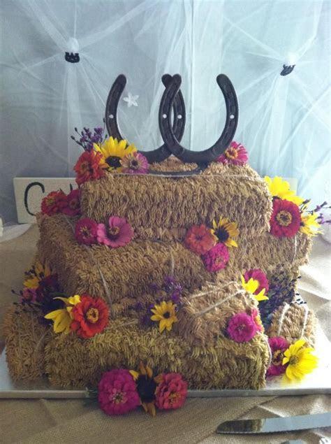 Hay Bale Wedding Cake   Charro