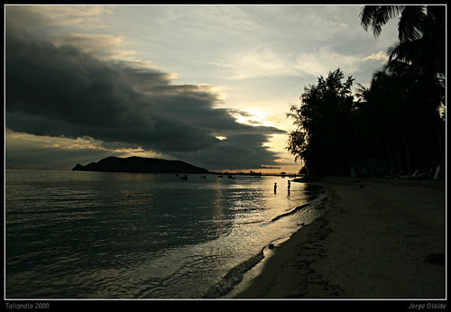 Ko Phangan, Phrueska Beach Resort, playa privada