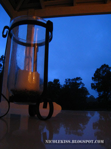 candle light at night