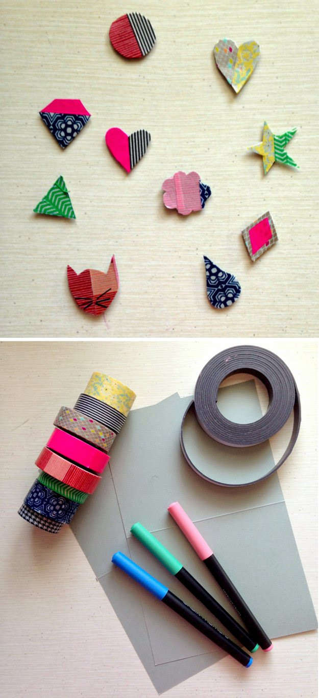 DIY Washi Tape Craft Ideas: 37 Washi Tape Organizer and Arts