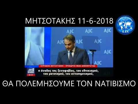 Κ.Μητσοτάκης..Υπόσχεση  στους Εβραίους ότι θα συντρίψει τους Αυτόχθονες Έλληνες