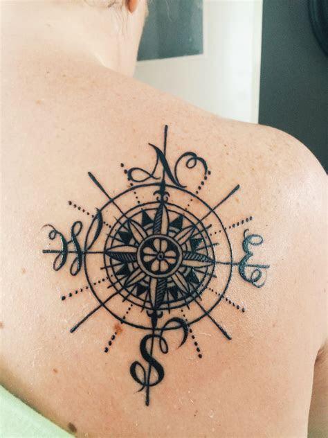 compass tattoo compasstattoo girlwithtattoo