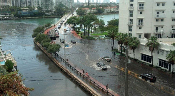 Flooding in Miami Beach