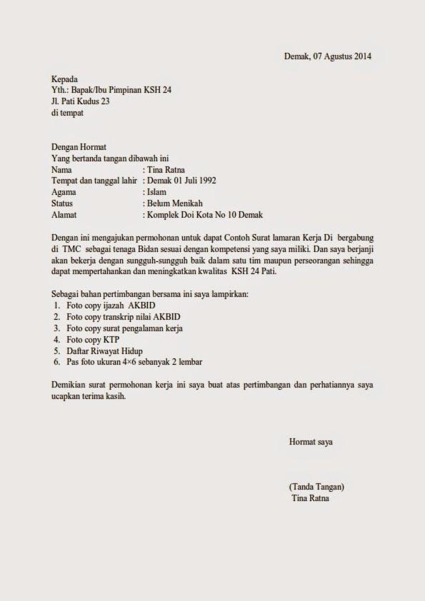 Contoh Surat Lamaran Kerja Di Rumah Sakit Eka Hospital