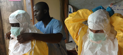 Health workers, like these in Guinea, are at serious risk of contracting the disease. (photo: European Commission DG ECHO)
