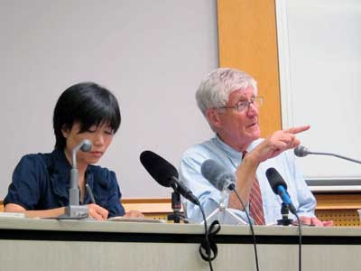 アーニー・ガンダーセン東京講演会のJPG
