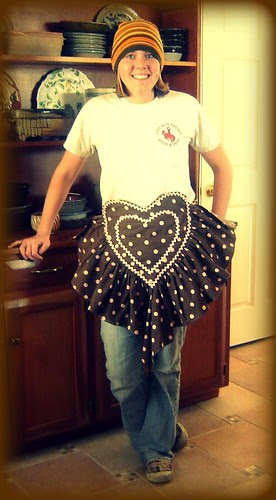 Mama Byrd's Sweetheart apron on Katie