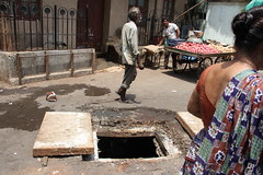 the manhole .. if you accidentally fall into the municipality will call you asshole by firoze shakir photographerno1