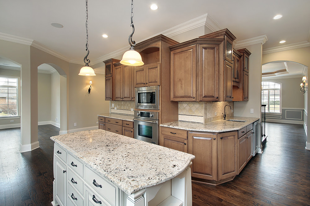 How to Coordinate Granite Countertops & Kitchen Cabinets ...