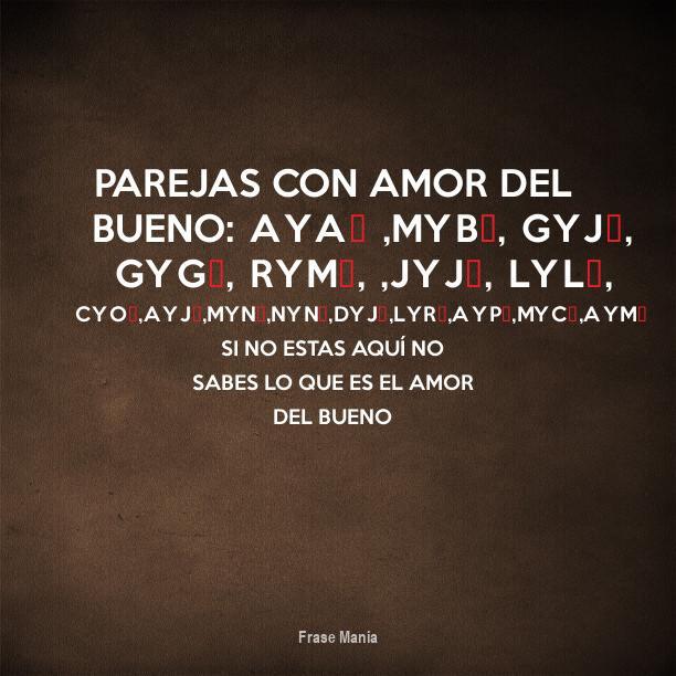 Cartel Para Parejas Con Amor Del Bueno Aya Myb Gyj Gyg